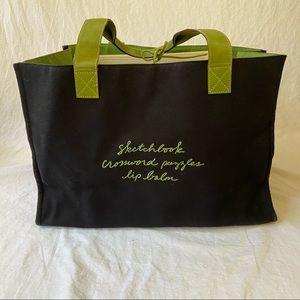 Kate Spade XL Contents canvas beach tote bag